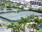 our 4 Har-Tru tennis courts from the Balcony