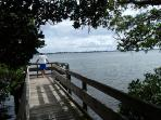 Coquina Bay Walk leads to great bay views