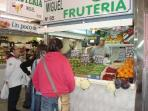 Huelin's market, just around the corner, with all the best fresh products
