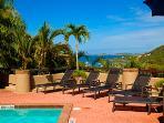 Private villa pool for hillside units