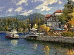 Lake Arrowhead painted by Thomas Kinkade