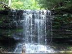 Waterfalls on Rickett's Glen trail