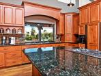 Kitchen offers everything from huge prep island to a coffee bar with everything in between!