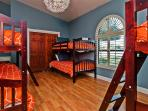 Guest Bedroom with 3 sets of bunk beds (6 beds) is perfect extra sleeping area for your big group!
