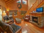 A Mountain Endeavor #282- Living Room with Fireplace & Flat Scre