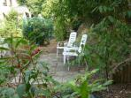Terrace in Flower and Kitchengarden where you can ask and learn about  biological gardening