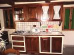 Kitchen in chestnut wood