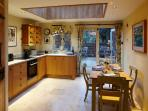 Fully equipped, oak and granite kitchen.