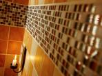 Candle lit steam room to indulge in