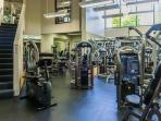 On site fitness center -  no charge
