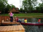 Tenants Enjoying Canoe
