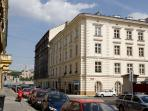 Ideal location - residential street near river Vltava, in walking distance to many historical sites.