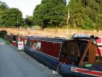 Barge at canal basin, a short walk away