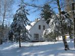 Apartment house in winter