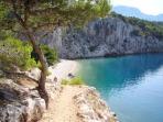Nugal beach Makarska (bush walk to beach takes approx 30 minutes from apartment)
