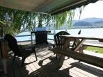 Deck facing the lake