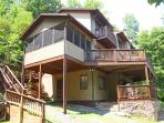 Screened porch and three of the four decks shown.