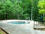 Community hot tub open from Memorial Day weekend to Labor Day.