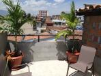 Rooftop terrace of apartment