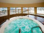 Indoor hot tub, next to the fitness center