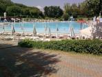 Huge outdoor pool in Acqui Terme