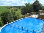 With use of 30'  x 15' swimming pool.