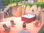 Court yard hot tub
