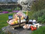 A hamper of local produce may be ordered when booking.