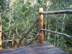 Staircase from tropical wood, harvested on the property