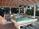 Enjoy a game of pool or table tennis in the billiard porch