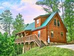 This cabin sits on over 1.5 acres of ground and offers seclusion