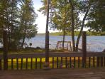The Lake, dock and swim area is 50' from the deck