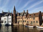 Bruges is only at 15 min. by train or car