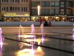 light fountains at the promenade