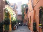 A typical Trastevere street
