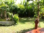 garden with water features