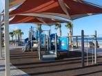 Enjoy the park's picnic areas and playground overlooking the beach