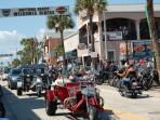 Bike Week and Biketoberfest events in Ormond and nearby Daytona Beach