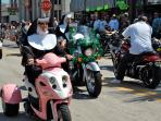 You see all types of unusual bikers on Main Street during Bike Week