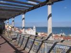 Sta. Luzia belvedere (10mn walk)