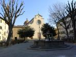 santo spirito square, 1 min by walk