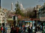 montmartre and sacre coeur from boulevard