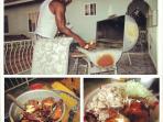 Chef Vincent making jerk chicken