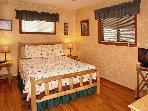 Bear Cabin #462- Bedroom with Flat Screen TV