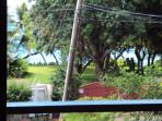 This is the ocean view from our back door and driveway.  Very nice ocean sound and breeze all around