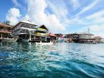 Bocas Town. Island hoping is part of life here on Basti! Fun fun!