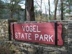 Vogel State Park is across the street-fishing,pedal boats,beach,waterfall,mini golf
