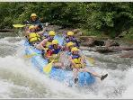 Go Rafting-Ocoee 40 miles where 1999 Olympics was held
