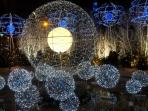 Rond Point des Champs Elysees xMas 2013 (~12min walk from the apartment)