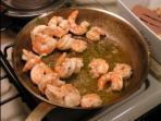 Huge Cammarones (shrimp) local food